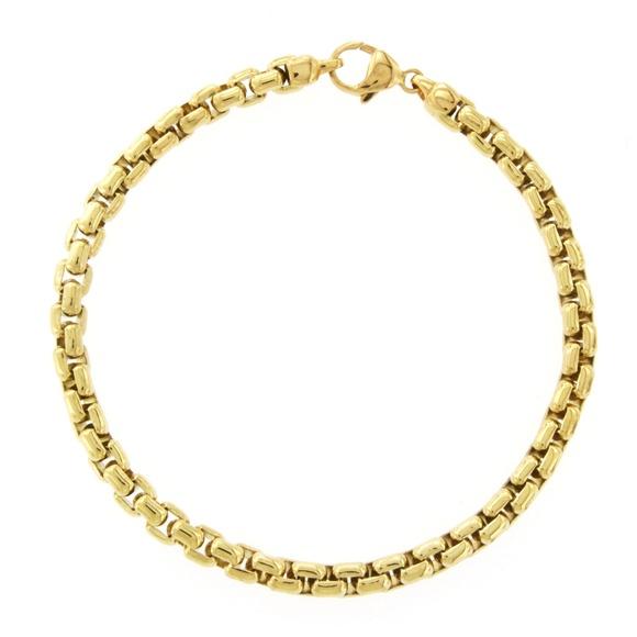 Tiffany & Co  Yellow Gold Box Link Bracelet